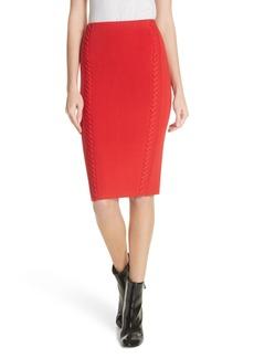 rag & bone Brandy Whipstitch Pencil Skirt