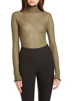 rag & bone Breanne Openwork Mock Neck Sweater
