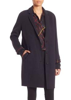 Rag & Bone Bree Plaid Trim Coat