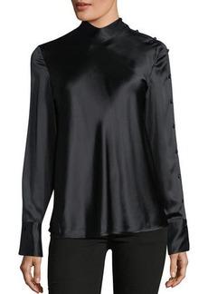 Rag & Bone Bretton Long-Sleeve Silk Top