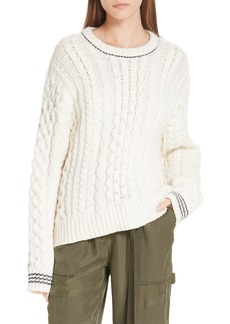 rag & bone Brighton Lambswool Aran Sweater