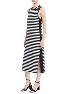 Rag & Bone Brit Striped Side-Split Tank Dress
