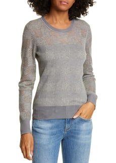 rag & bone Buffalo Check Openwork Sweater