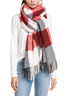 rag & bone Buffalo Plaid Wool Blend Scarf