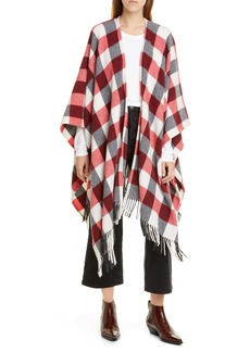 rag & bone Buffalo Plaid Wool Blend Cape