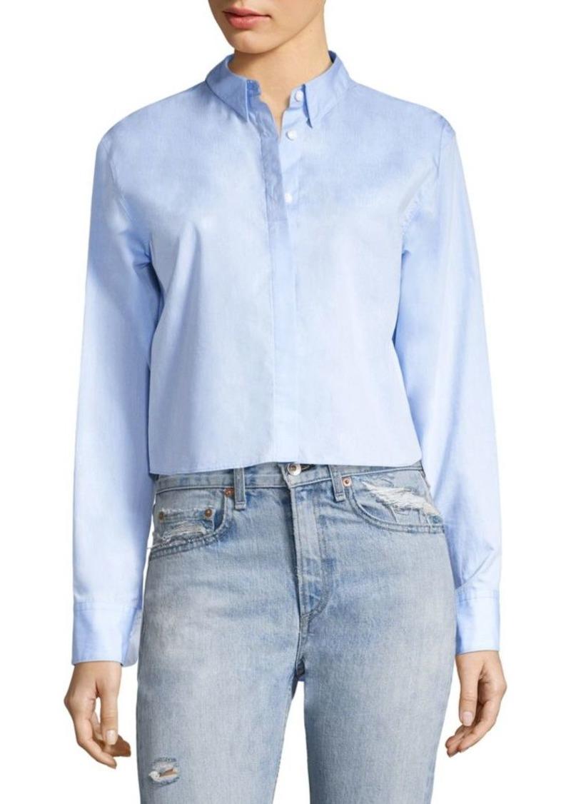 Rag & Bone Calder Reversible Cotton Poplin Shirt
