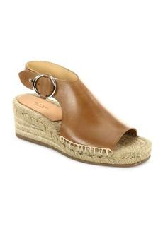 Rag & Bone Calla Leather Espadrille Platform Wedge Sandals