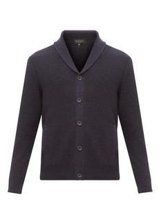 Rag & Bone Cardiff moss-stitched merino wool-blend cardigan