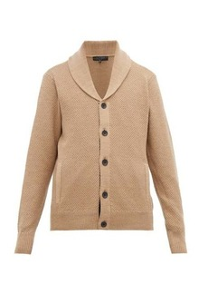 Rag & Bone Cardiff shawl-collar wool & cotton cardigan