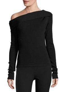 Rag & Bone Carmen Long-Sleeve Asymmetric Jersey Top