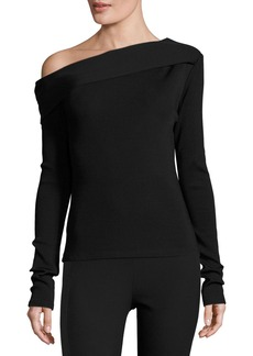 Rag & Bone Carmen Long-Sleeve Asymmetric Jersey Top