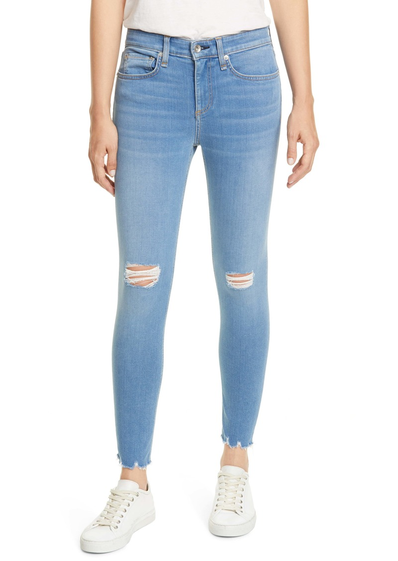 rag & bone Cate Ripped Ankle Skinny Jeans (Bowery)