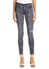 rag & bone Cate Ripped Ankle Skinny Jeans (Grey Snake)