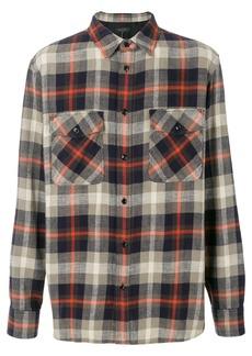 Rag & Bone checked chest pocket shirt