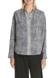 rag & bone Christie Cheetah Print Silk Shirt