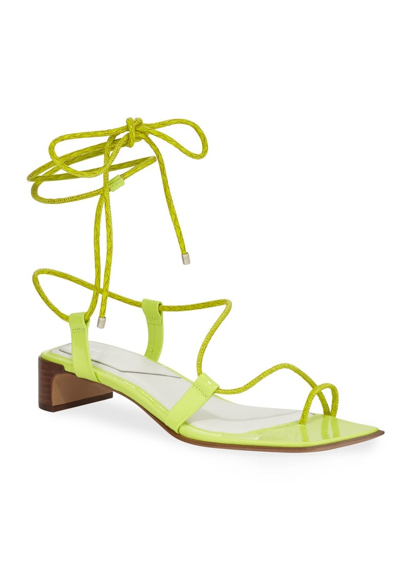 Rag & Bone Cindy Leather Ankle-Tie Sandals