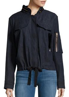 Rag & Bone Claire Textured Cotton Hoodie