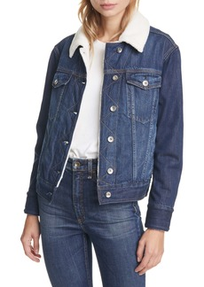 rag & bone Classic Fleece Lined Denim Trucker Jacket