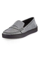 Rag & Bone Colby Textured Leather Loafer-Style Sneaker