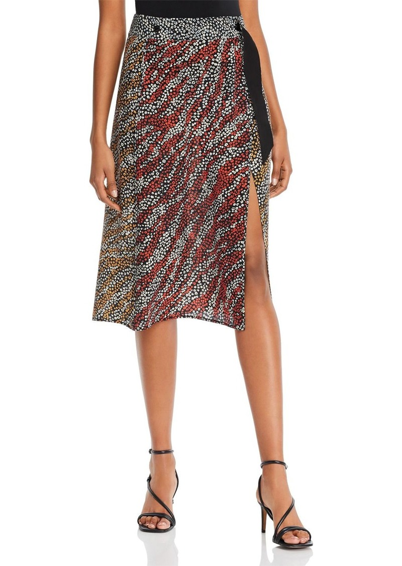 rag & bone Colette Printed-Silk Wrap Skirt