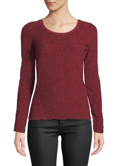 Rag & Bone Collier Textured Jacquard Long-Sleeve Top