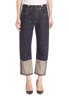 Rag & Bone Colorblock Wide-Leg Jeans