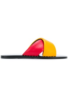 Rag & Bone colour block strap sandals - Red