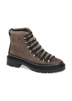 rag & bone Compass Genuine Shearling Combat Boot (Women)