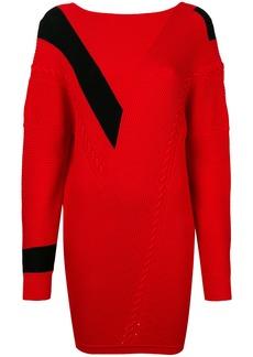 Rag & Bone contrast panelled sweater dress - Red