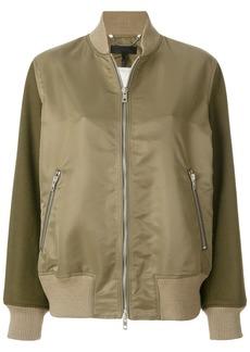 Rag & Bone contrasting sleeves bomber jacket - Green