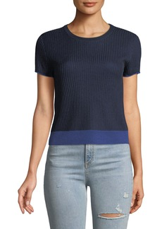 Rag & Bone Cora Ribbed Short-Sleeve Tee