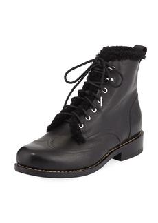 Rag & Bone Cozen Fur-Trim Leather Boot