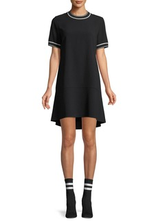Rag & Bone Crewneck Short-Sleeve Crepe Dress