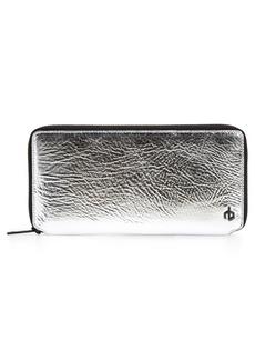 rag & bone Croc Metallic Lambskin Leather Wallet