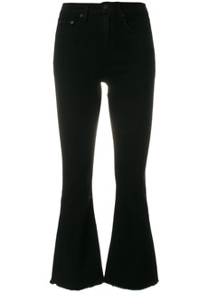 Rag & Bone crop flare jeans - Black