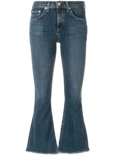 Rag & Bone crop flare jeans - Blue