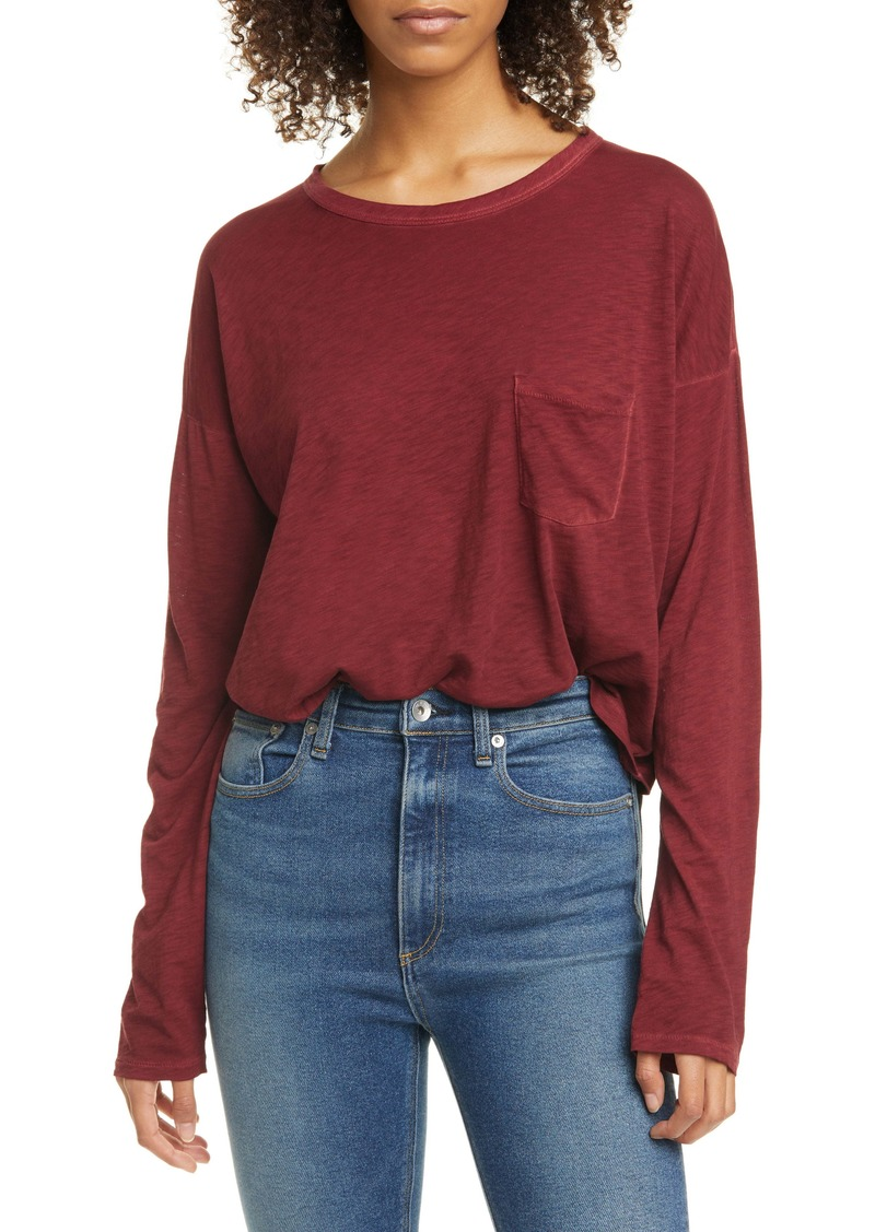 rag & bone Crop Long Sleeve Tee