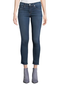 Rag & Bone Cropped Ankle Skinny Jeans with Released Hem