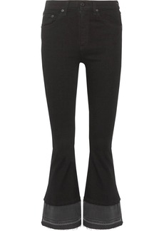 rag & bone Cropped high-rise flared jeans