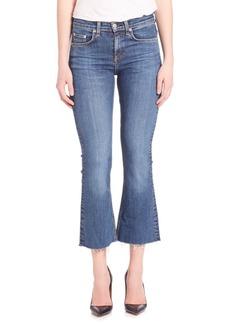 Rag & Bone Cropped Raw-Hem Flare Jeans