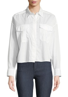 Rag & Bone Cropped Self-Tie Mason Shirt