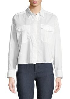 Rag & Bone Cropped Self-Tie Mason Shirt