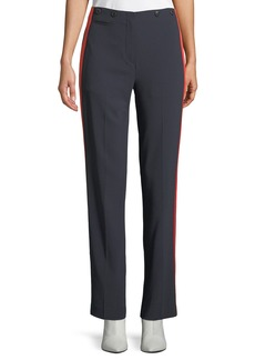 Rag & Bone Dagger Slim Straight-Leg Crepe Pants