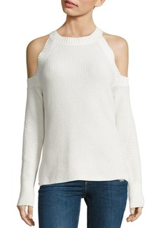 Rag & Bone Dana Cold-Shoulder Cotton Sweater
