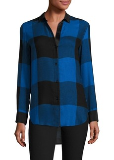 Rag & Bone Danni Buffalo Plaid Blouse