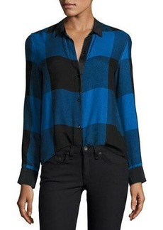 Rag & Bone Danni Long-Sleeve Buffalo Check Blouse