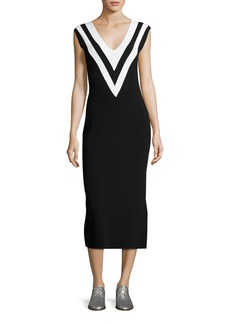 Rag & Bone Daphne V-Neck Sleeveless Midi Sweaterdress
