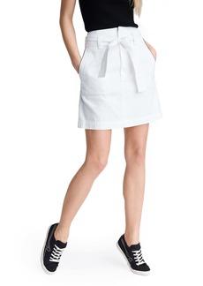 rag & bone Darted High Waist Denim Miniskirt