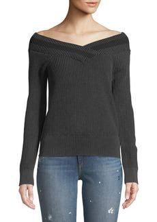 Rag & Bone Dawn Off-the-Shoulder Knit Sweater