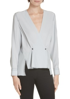 rag & bone Debbie Silk Surplice Top